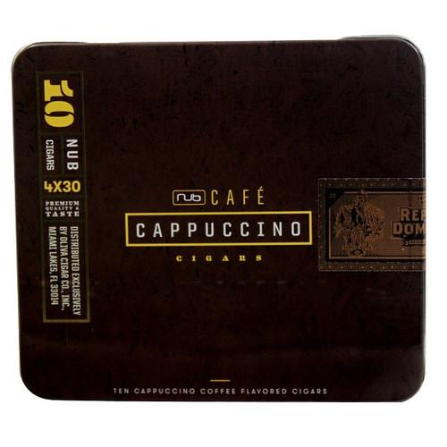 "Nub Cafe Cappuccino 438 (Cigarillos) (4.0""x38) box of 25  努布卡布基诺咖啡小雪茄4.0""x38 25支装"