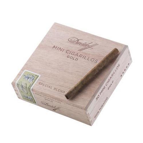 DAVIDOFF MINI CIGARILLO GOLD/SILVER-3 1/2 X 20 - Natural - Box Of 50-www.ilovecigar.com