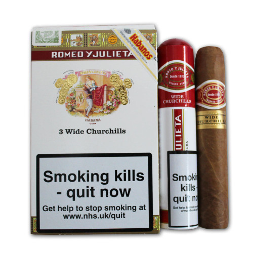 Romeo y Julieta Wide Churchill-Box of 15 罗密欧宽丘吉尔15铝管支装