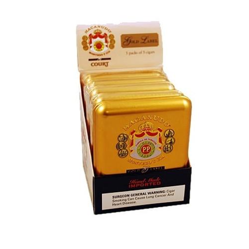 麦克纽杜金标金法院25支装  Macanudo Gold Label Court 5 unit of 25