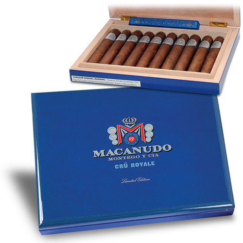 麦克纽杜原始皇家便携保湿盒+10支雪茄 Macanudo Cru Royale Travel Humidor With Cigars box of 10