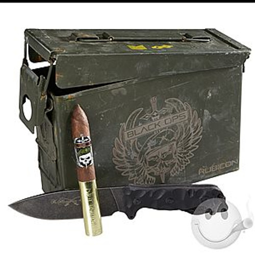 Gurkha Black Ops Rubicon Torpedo Box of 28 & Pocket Knife 廓尔喀黑衣人卢比肯鱼雷28支装和小刀