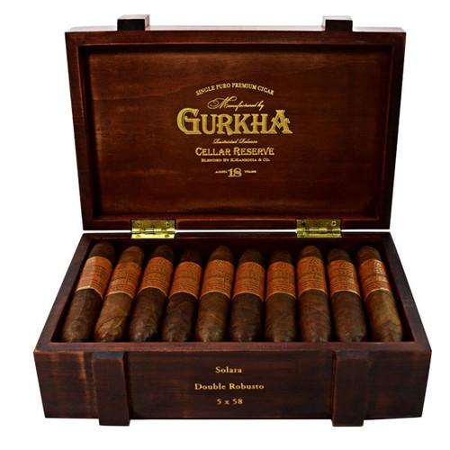 Gurkha Cellar Reserve 18 Year Edicion Especial Solara-double robusto box of 20