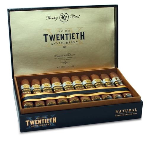 Rocky Patel 20th Anniversary Rothschild box of 20 (Maduro)