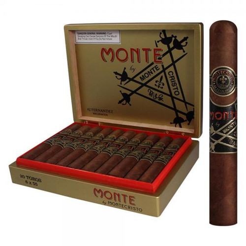 Monte by Montecristo by AJ Fernandez Toro box of 20 阿加费尔南德斯蒙特之蒙特克里斯托公牛20支装