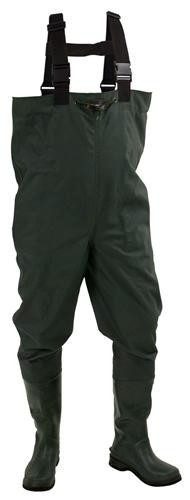 Frogg Toggs Men's Cascades 2-Ply Poly/Rubber Cleated Bootfoot Chest Waders - Green