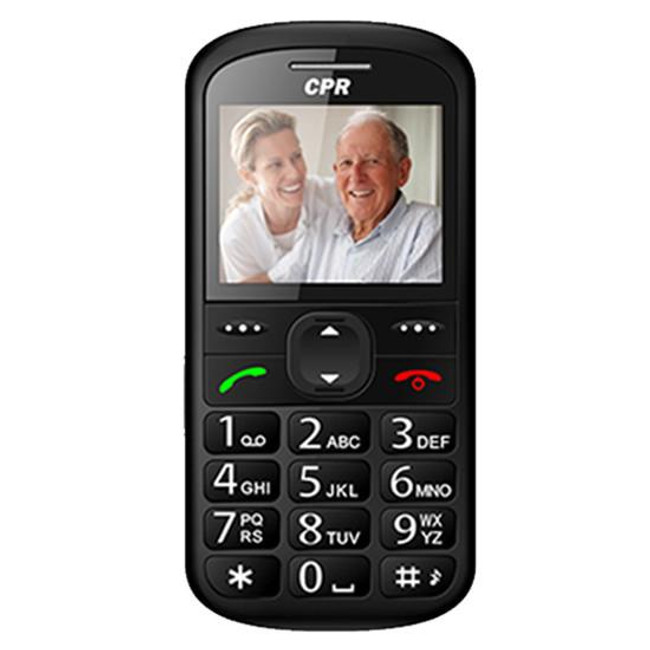 CS600 big button mobile phone - features an emergency assist button on the back of the phone. Call family or carers in case of a fall, ect.