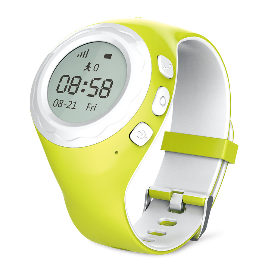 Grasshopper Green - Powered by CPR - WATCHU for kids specially designed for young kids to be independent while staying connected with their parents. SOS emergency assist puts the wearer in contact with a pre-approved contact. Set Geo-zones to receive text alerts when the wearer enters or leaves a location. Location tracking that updates every 60 seconds.
