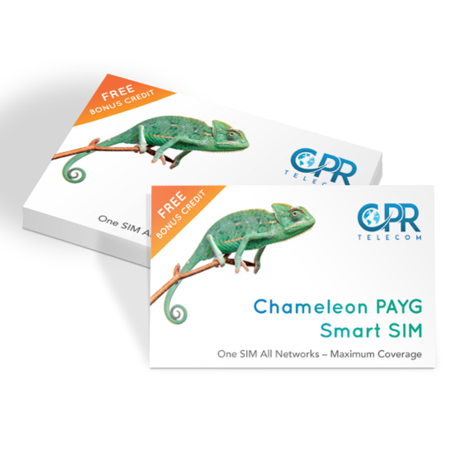 CPR Wholesale - CPR Chameleon SIM - One SIM All Networks - Maximum Coverage  CPR Chameleon is a unique mobile network that automatically switches between all major networks to ensure that you have optimum mobile signal coverage at all times.