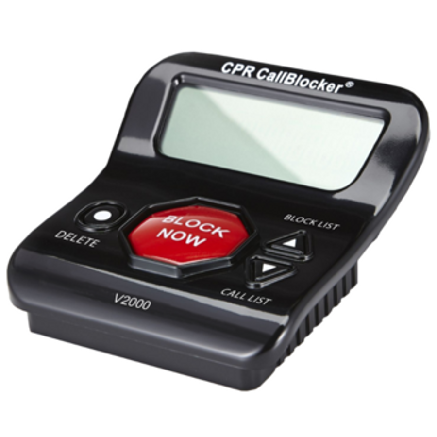 CPR V2000 Call Blocker - Block All PPI, Political Calls, Scam Calls, Unwanted Calls on Landline Phones. Block All Nuisance Calls At The Touch Of A Button using Caller ID