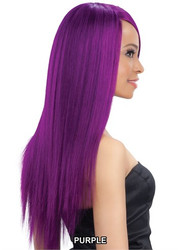 Model Model CLEAN 100% Human Hair Natural Straight Purple