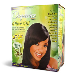 Africa's Best Organics Olive Oil Conditioning Relaxer System 2 Complete Kit Regular