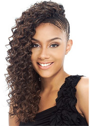 "MODEL MODEL Pose Deep Bulk 18"" Human Hair Master Mix Braiding"