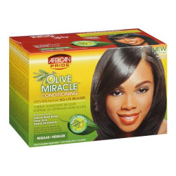 African Pride Olive Miracle No-Lye Relaxer 1 Complete Application