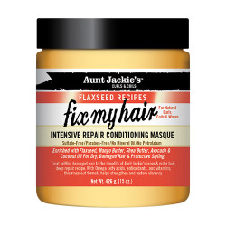 Aunt Jackie's Flaxseed Recipes Intensive Repair Conditioning Masque Fix My Hair 15 oz
