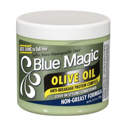 Blue Magic Olive Oil Leave-In Styling Hair Conditioner 13.75 oz