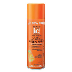 IC Fantasia Hair Polisher Carrot Growth Daily Moisturizing Sheen Spray 14 oz