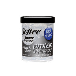 Softee Protein Styling Gel Super Freeze Clean & Clear