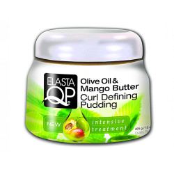Elasta QP Olive Oil & Mango Butter Curl Defining Pudding 15 oz