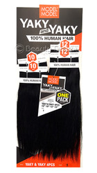 MODEL MODEL 100% Human Hair Yaky & Yaky, One Pack