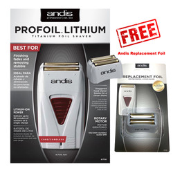 Andis ProFoil Lithium Titanium Foil Shaver TS-1 with Replacement Foil
