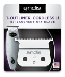 Andis Cordless T-Outliner® Li Replacement Deep Tooth GTX Blade, #04555