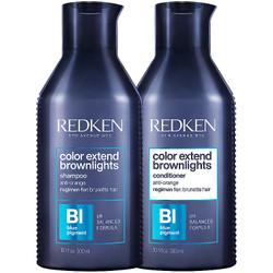 REDKEN Color Extend Brownlights Shampoo 10.1 oz & Conditioner 10.1 oz Combo Duo Set