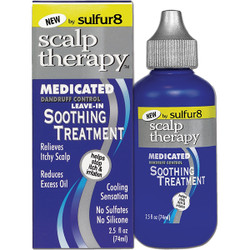 Sulfur 8 Medicated Scalp Therapy for soothing Leave-In Treatment 2.5 oz
