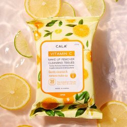 CALA Vitamin-C Make-Up Remover Cleansing Tissues 67014