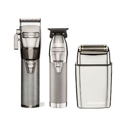 BaByliss Pro Silver FX Combo - FX Clipper, FX Trimmer, FX Shaver