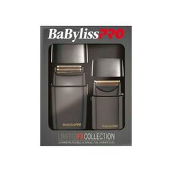 BaByliss PRO Limited FX Collection Double and Single Foil GunMetal Shaver Duo