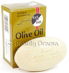 Black and White Botanical Face & Body Olive Oil Soap 6.1 oz