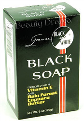 Black and White Botanical Face & Black Soap 6.1 oz