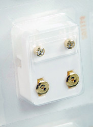Studex Ear Piercing Gold Plated Diamond Stone Studs 12 pack R204Y