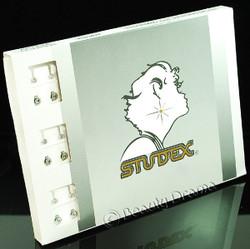 Studex Ear Piercing Stainless Steel Diamond Stone Studs 12 pack R204W