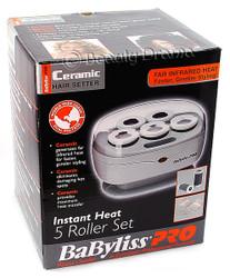 "BaByliss Pro Ceramic Instant Heat 5 Roller Set 1.5"" Hair Curling Set"