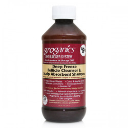 Groganics Deep Freeze Follicle Cleanser & Scalp Absorbent Shampoo 8 oz