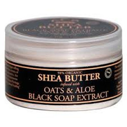 Nubian Heritage Organic Shea Butter with Black Soap Extract, Oats & Aloe
