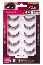 Kiss i ENVY Value Pack Human Hair Eyelashes-Au Naturale 08, KPEM08