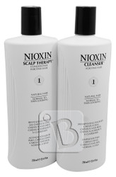 NIOXIN System 1 Cleanser & Scalp Therapy Duo Set 25 fl oz