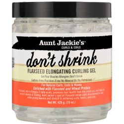 Aunt Jackie's Don't Shrink Flaxseed Elongating Curling Gel 15 oz