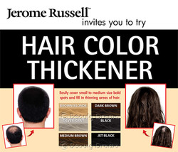 Jerome Russell Spray on Hair Color Thickener 3.5 oz - JET BLACK