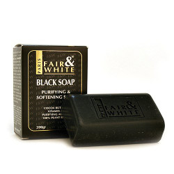 Fair & White Antibacterial Purifying & Softening Black Soap 7 oz