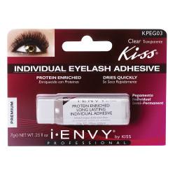 Kiss i ENVY Protein Enriched Long Lasting Individual Eyelash Glue Clear, KPEG03