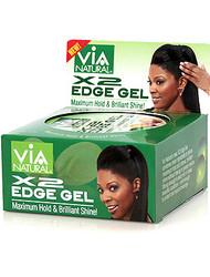 Via X2 Edge Gel Nourishing Olive & Argan Oils Max Hold & Shine 2 oz