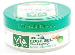 2 ozVia X2 Edge Gel Nourishing Olive & Argan Oils Max Hold & Shine 2 oz