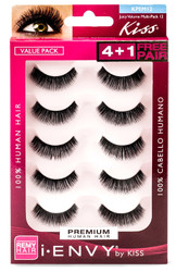 Kiss i ENVY Value Pack Human Hair Eyelashes-Juicy Volume 01, KPEM12