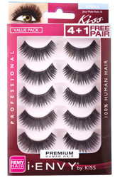Kiss i ENVY Value Pack Human Hair Eyelashes-Juicy Volume, KPEM16