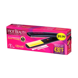 "Hot Beauty Ceramic Flat Iron 1"", HFI100"