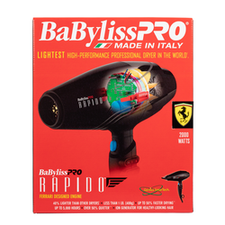 BaByliss Pro Ferrari Rapido Blow Dryer 2000 Watts Light Weight BF7000